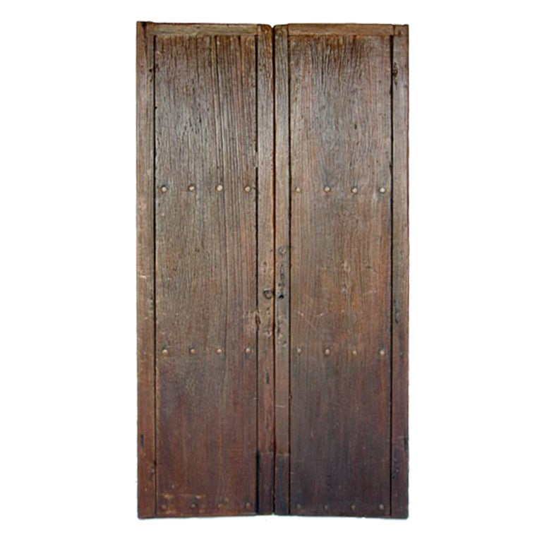 Los Angeles Ca Mid Century Modern Wood Garage Door Gate: 19th Century Doors At 1stdibs