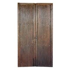 Pair of 19th Century Antique Wooden Doors
