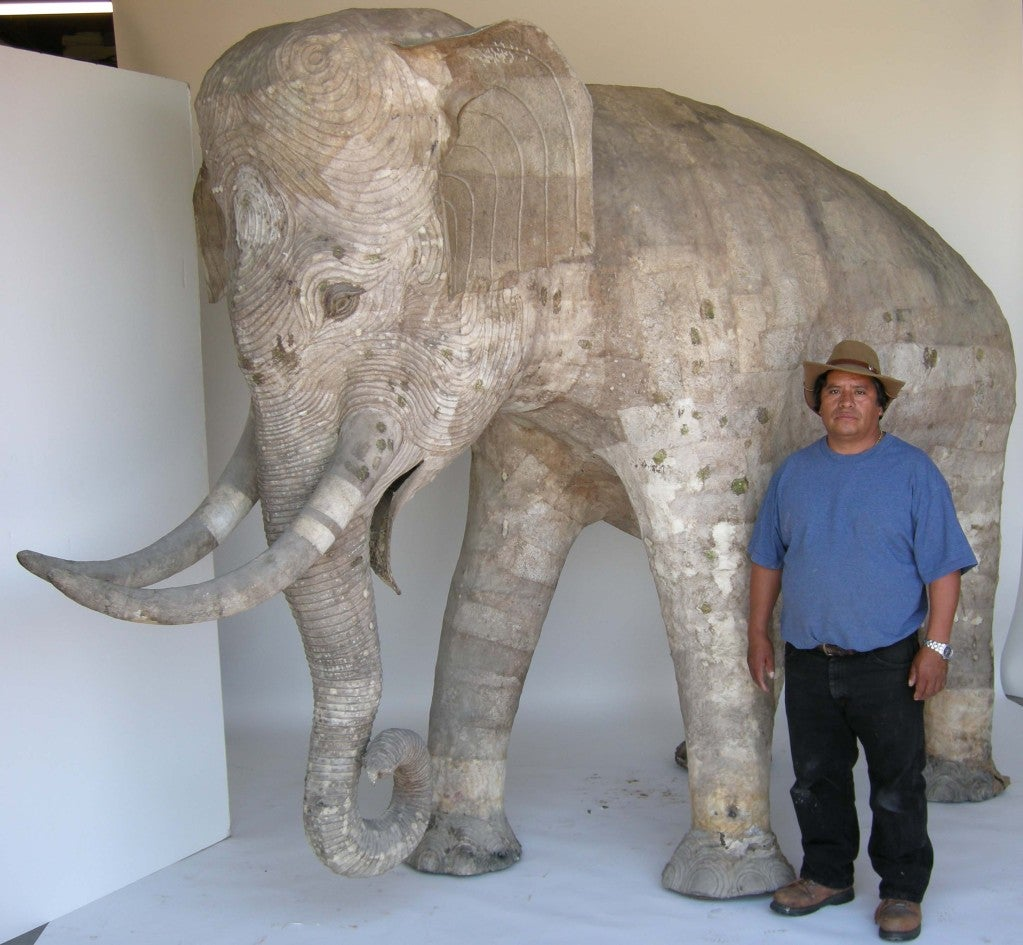 life size papier mache elephant for sale at 1stdibs. Black Bedroom Furniture Sets. Home Design Ideas
