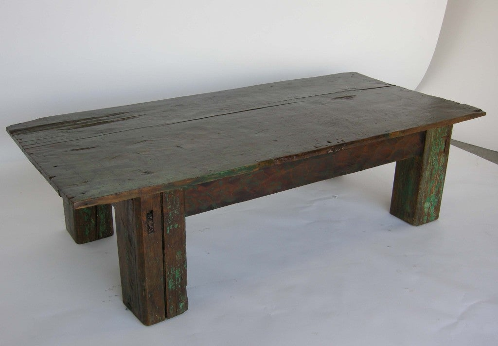 Reclaimed Wood Coffee Table At 1stdibs