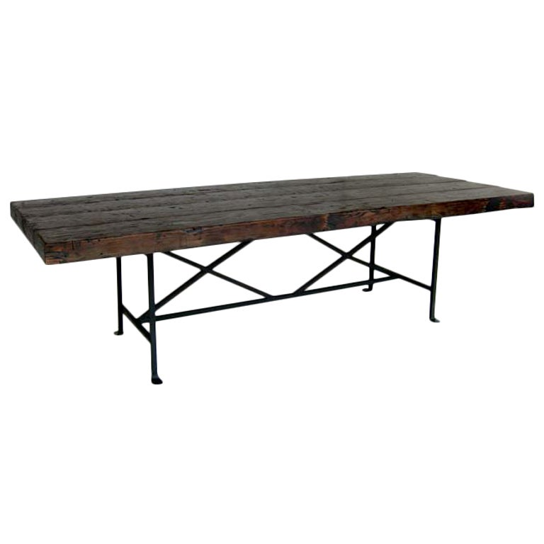 this reclaimed wood dining table is no longer available