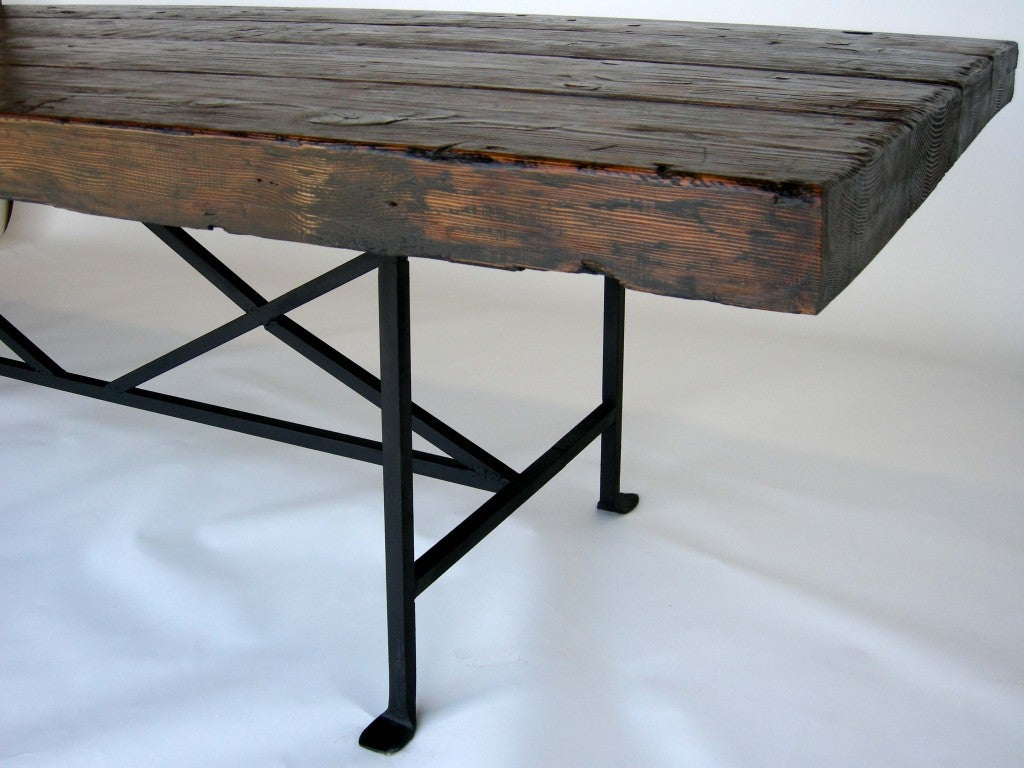 Dos Gallos Custom Reclaimed Wood Dining Table with Hand  : 797813499803437 from www.1stdibs.com size 1024 x 768 jpeg 109kB