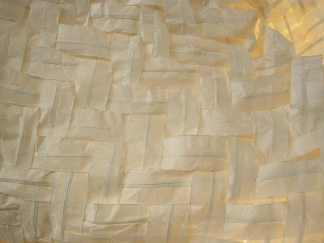 Gigantic Free-Form Handwoven Paper Ceiling Light In Fair Condition For Sale In Los Angeles, CA