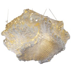 Gigantic Free-Form Handwoven Paper Ceiling Light
