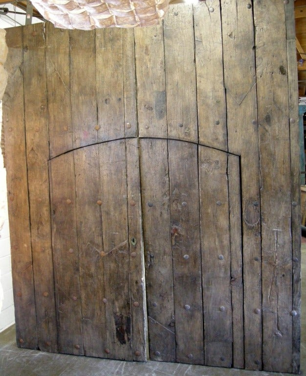 Pair of Large Antique Doors with Smaller Doors Inside.. 2