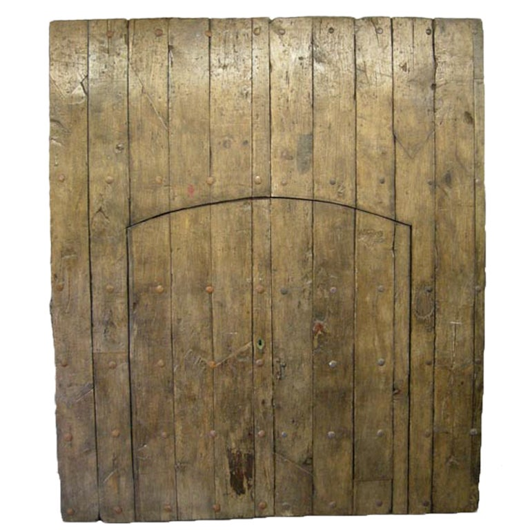 Pair of Large Antique Doors with Smaller Doors Inside.. For Sale