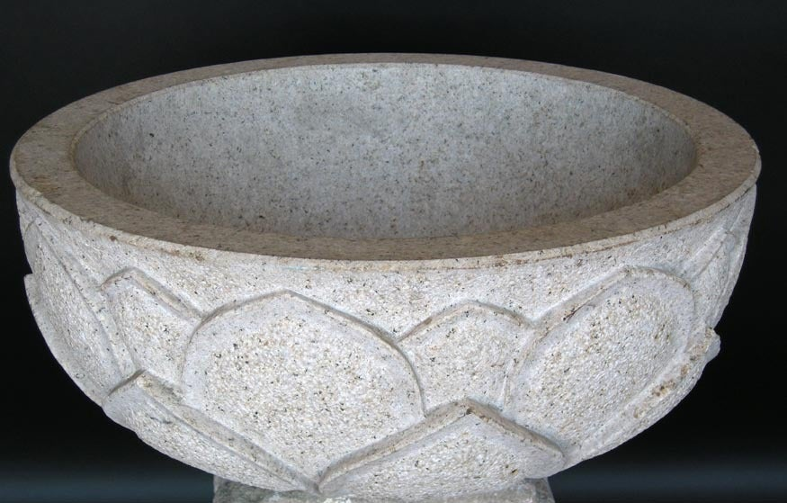 Carved Lotus Stone Bowl For Sale At 1stdibs