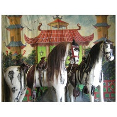 Photographer's Tableau - Horses, Camera and Backdrop
