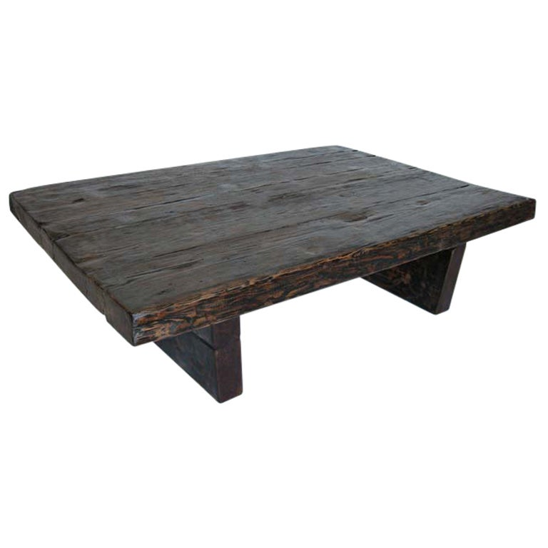 Reclaimed wood coffee table casual cottage for Reclaimed coffee table