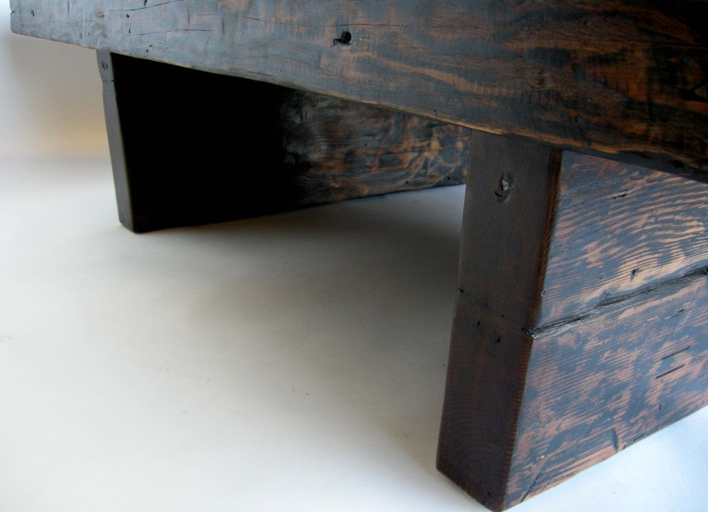 Reclaimed wood coffee table at 1stdibs for Salvaged wood los angeles