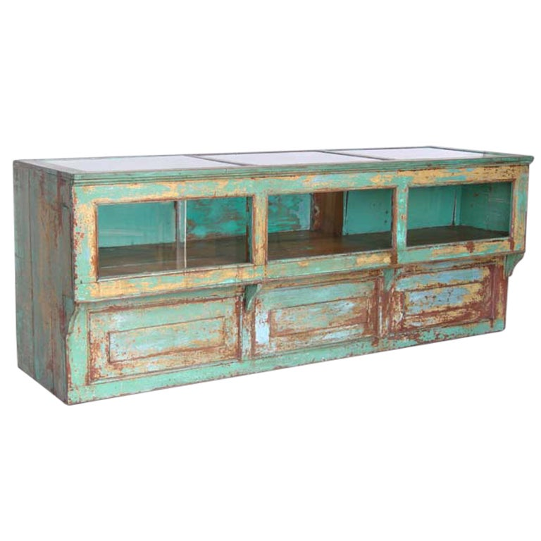 Antique Painted Mostrador - Store Display Counter 1