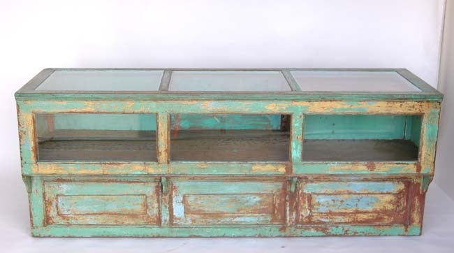 Antique Painted Mostrador - Store Display Counter 2
