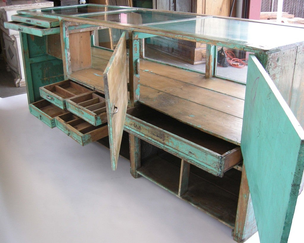 Antique Painted Mostrador - Store Display Counter 3