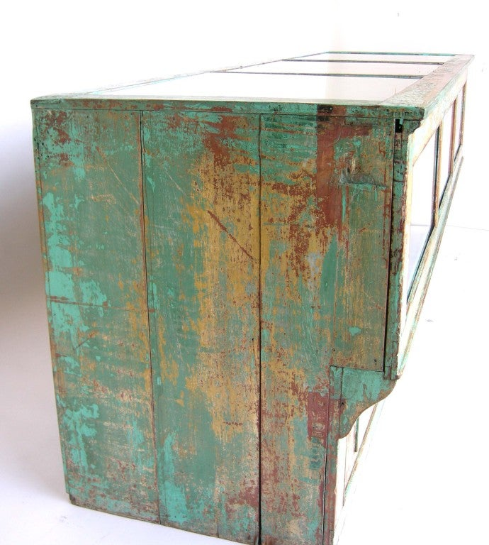 Antique Painted Mostrador - Store Display Counter 5