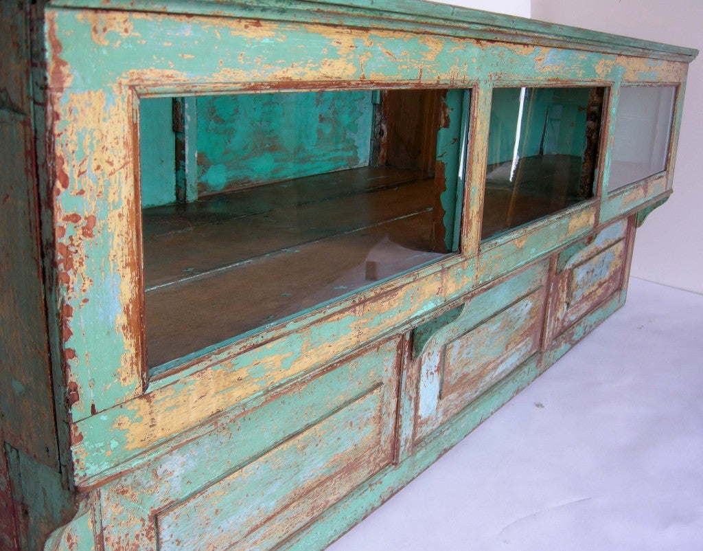 Antique Painted Mostrador - Store Display Counter 6
