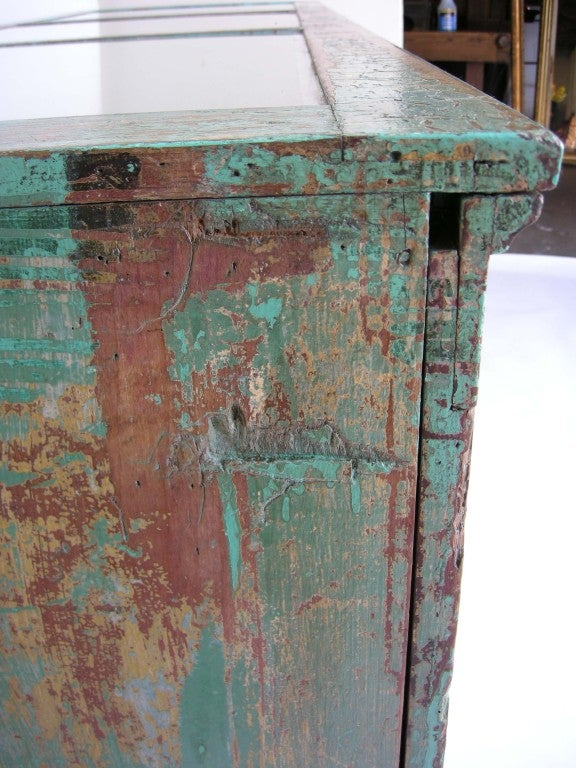 Antique Painted Mostrador - Store Display Counter 7
