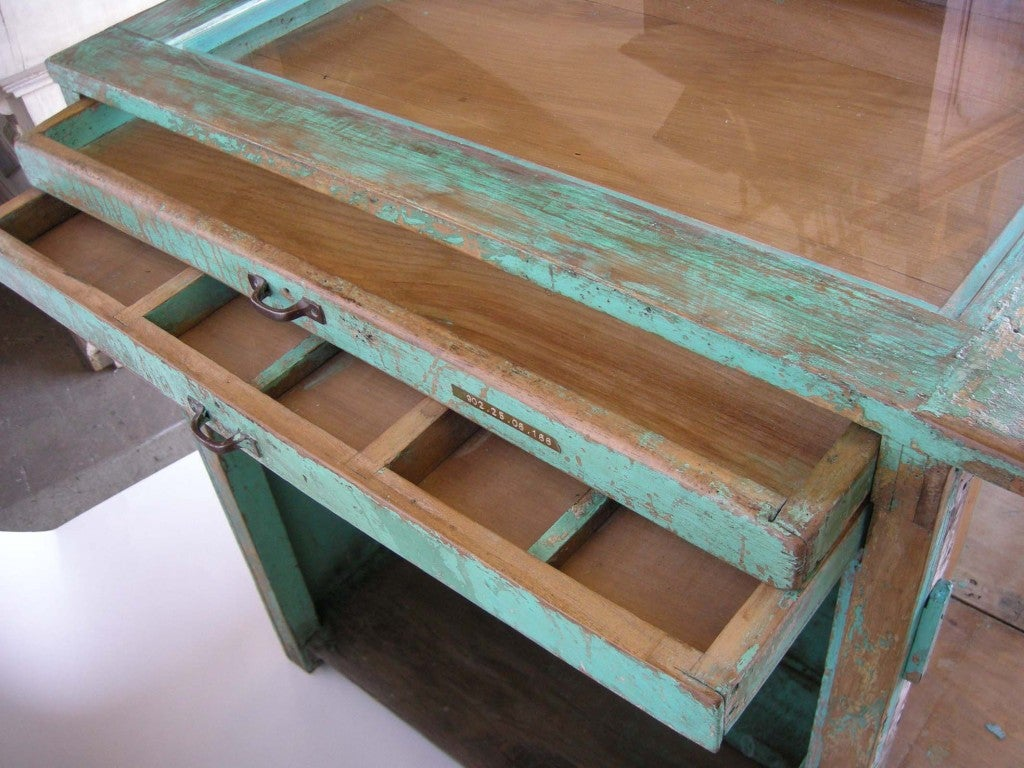 Antique Painted Mostrador - Store Display Counter 8