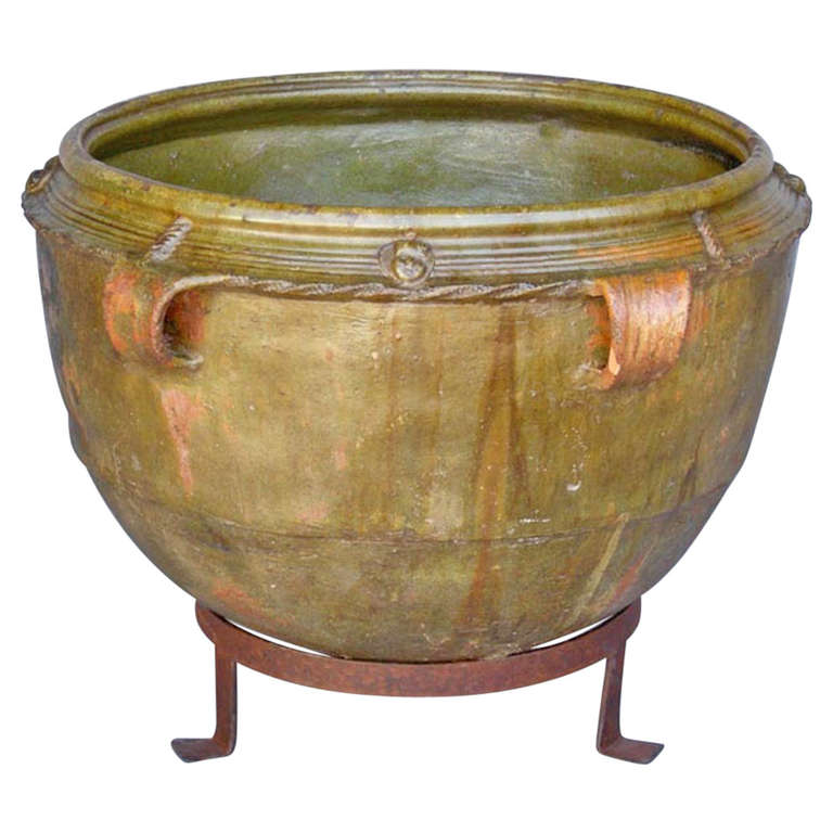19th Century Ceramic Pot For Sale