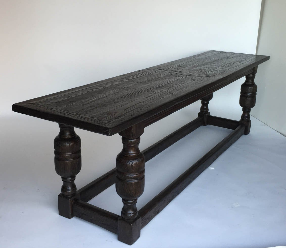 Custom oak wood baroque console table for sale at 1stdibs - Baroque console table ...