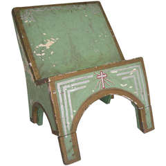 Antique Painted Book Stand