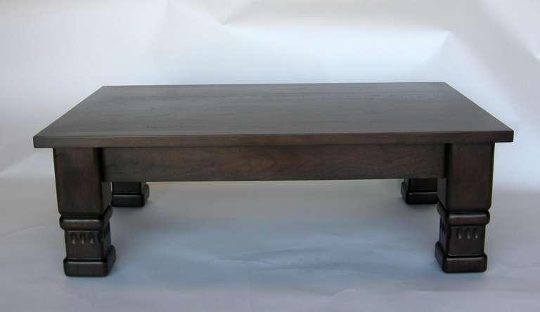 Guatemalan Custom Rustic Coffee Table by Dos Gallos Studio For Sale