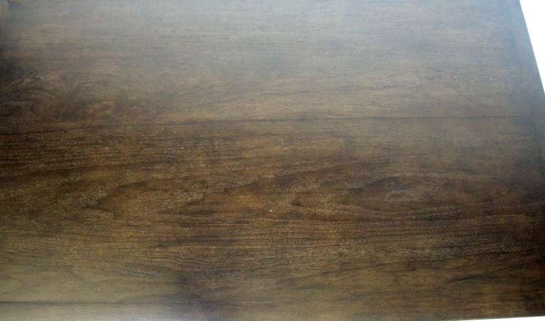 Walnut Custom Rustic Coffee Table by Dos Gallos Studio For Sale