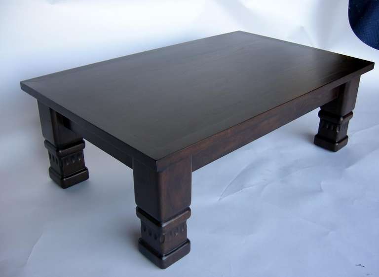 Custom Rustic Coffee Table by Dos Gallos Studio In Good Condition For Sale In Los Angeles, CA