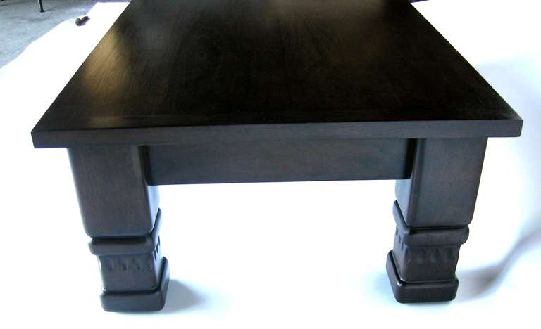Contemporary Custom Rustic Coffee Table by Dos Gallos Studio For Sale
