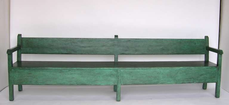Spanish Colonial Painted Bench For Sale
