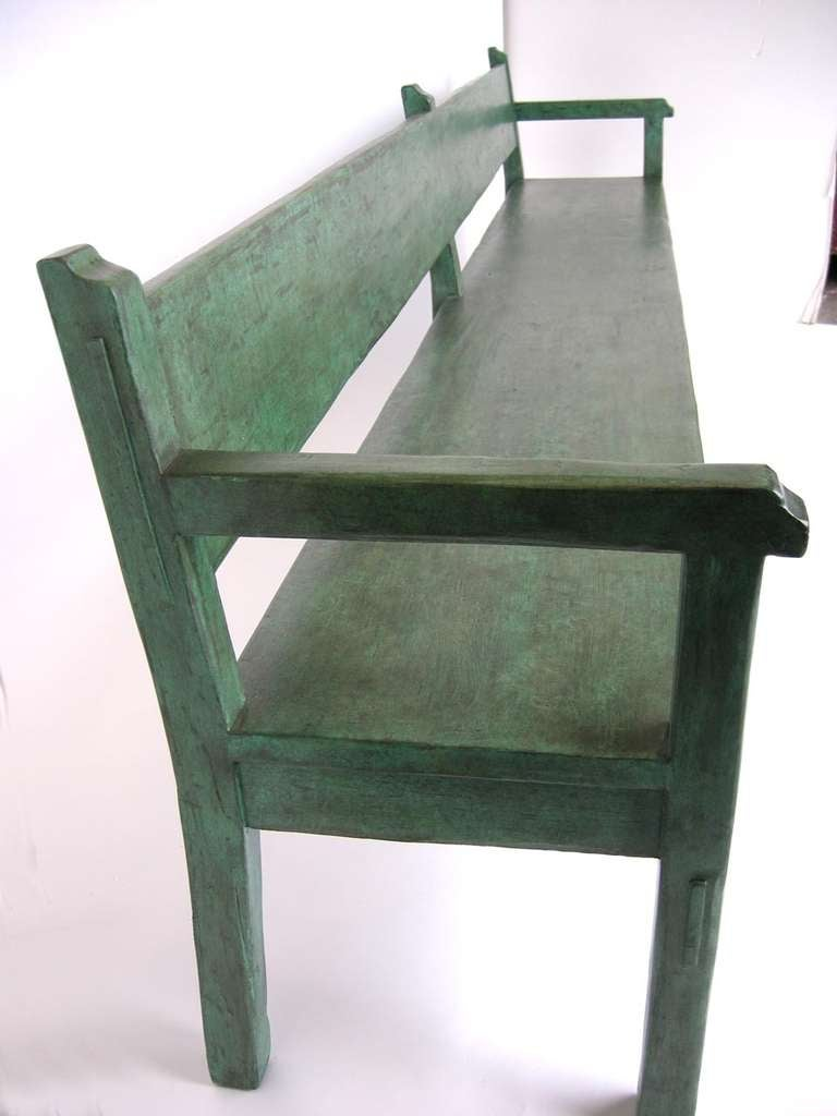 American Painted Bench For Sale