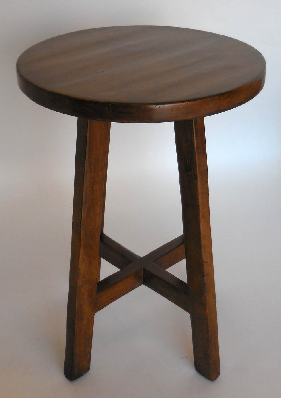 Custom Round Walnut Wood Side  or End Table 2