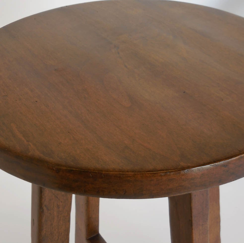 Custom Round Walnut Wood Side  or End Table 4
