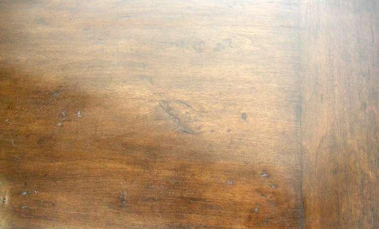Custom Walnut Wood Table with Wishbone Stretcher by Dos Gallos Studio For Sale 2
