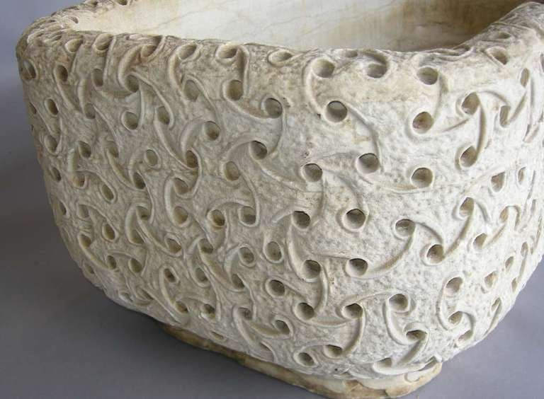Carved Marble Planter For Sale 2