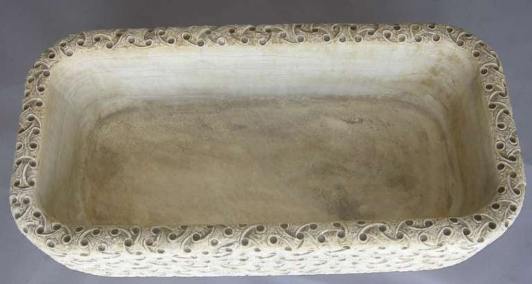 20th Century Carved Marble Planter For Sale