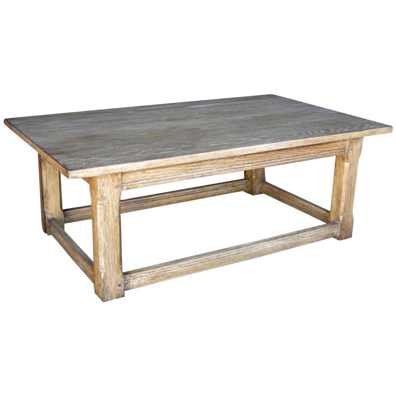 Dos Gallos Custom Oak Coffee Table