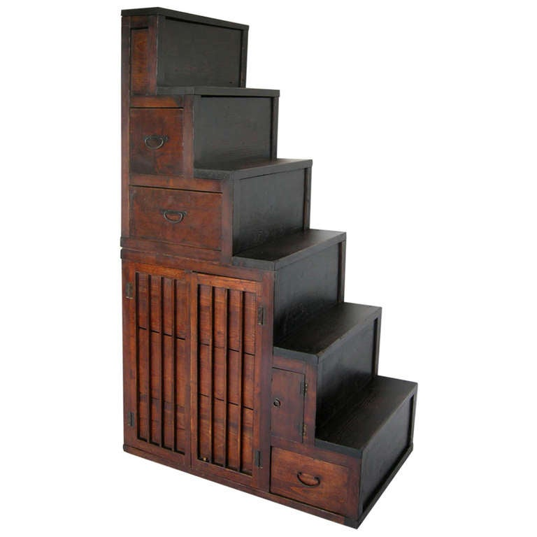 19th Century Kaidan Stair Cabinet For Sale At 1stdibs