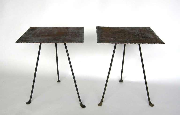 Dos Gallos Custom Tripod Side Table 3
