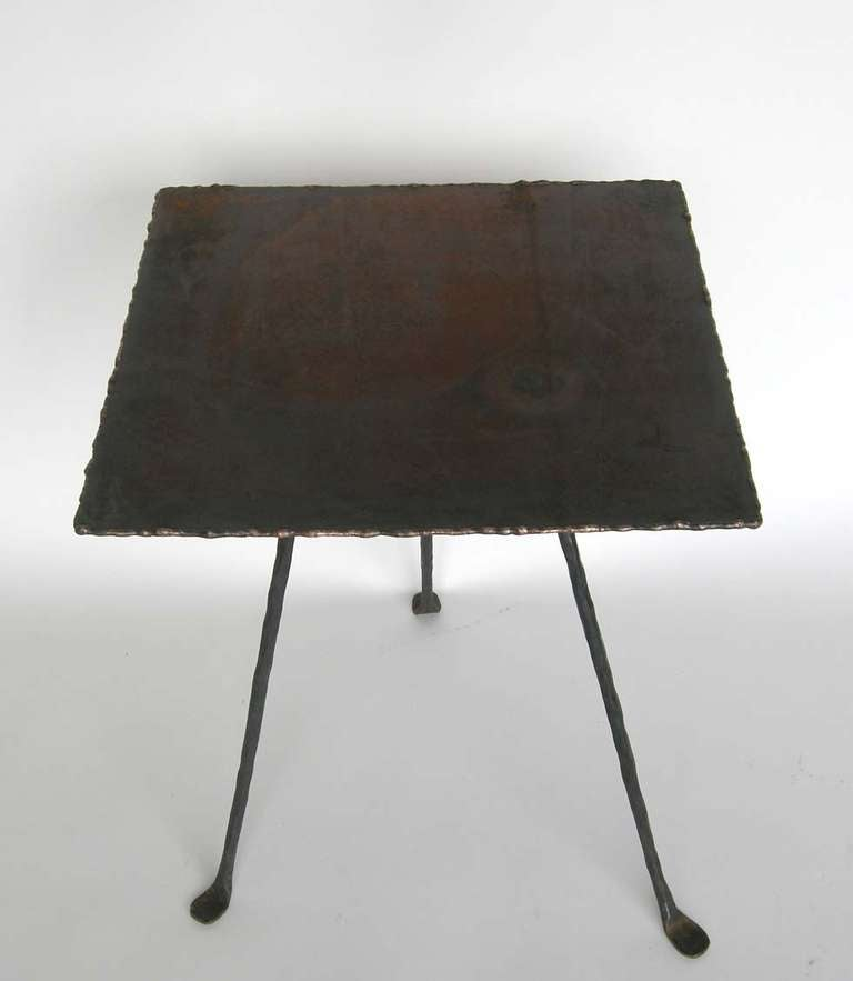 Dos Gallos Custom Tripod Side Table 4
