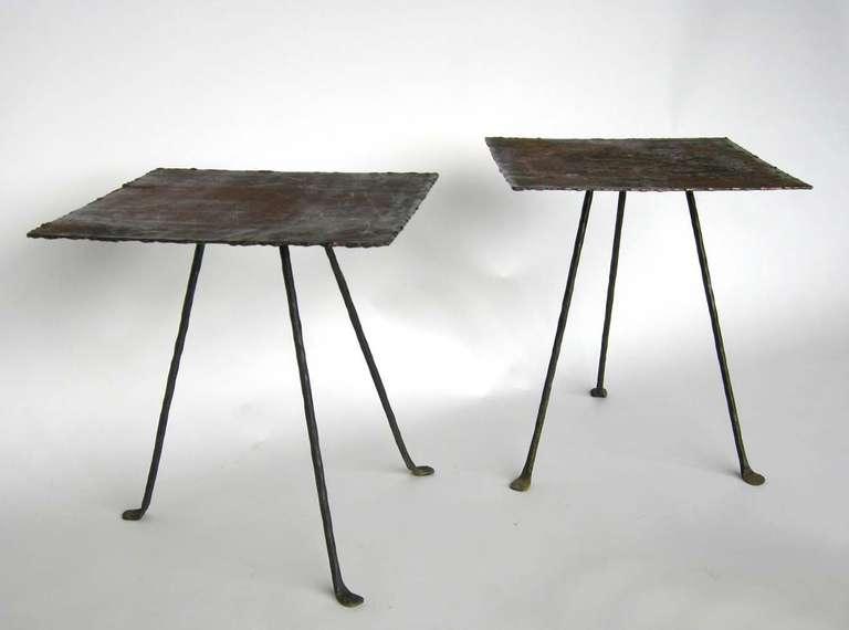 Dos Gallos Custom Tripod Side Table 2