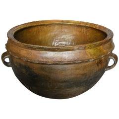 Antique Large Scale Terracotta Pot
