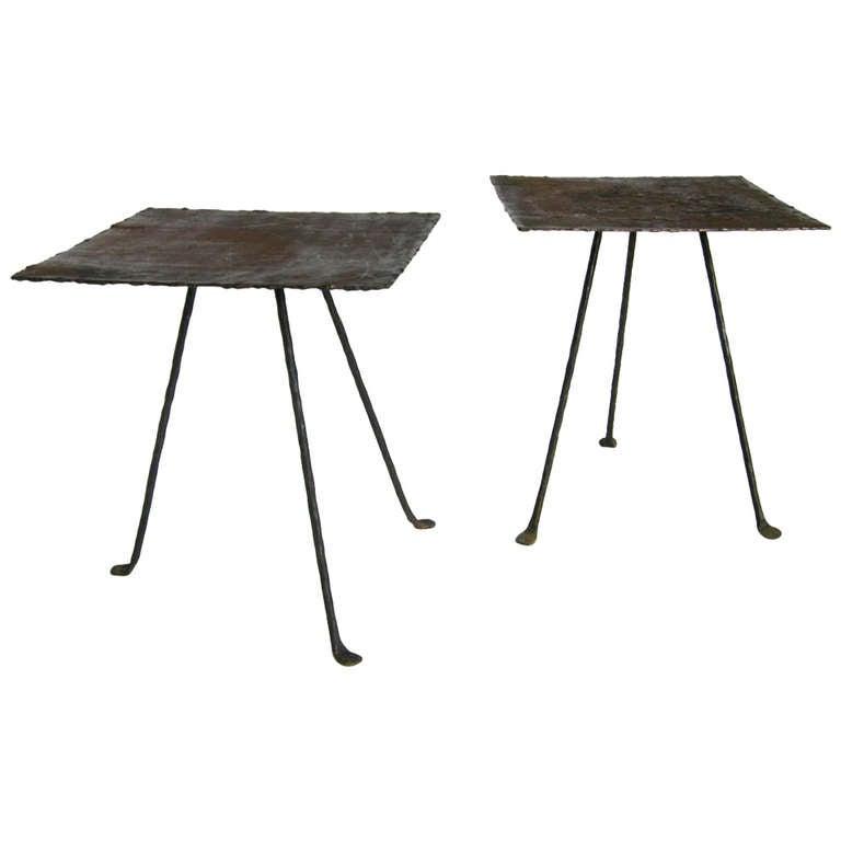 Dos Gallos Custom Tripod Side Table 1
