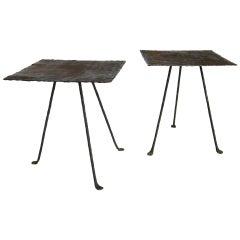 Dos Gallos Custom Tripod Side Table