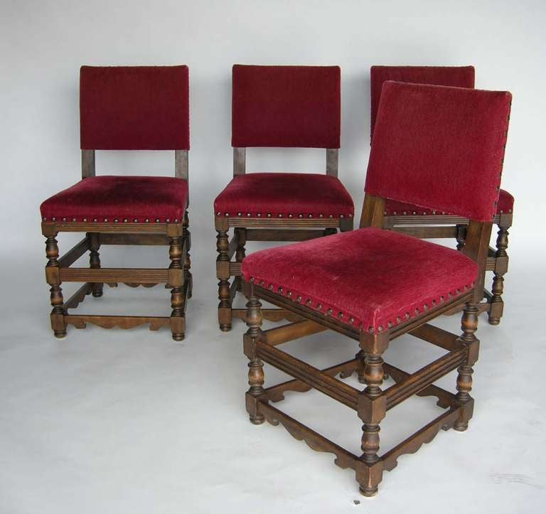 Spanish Colonial Four Spanish Chairs For Sale