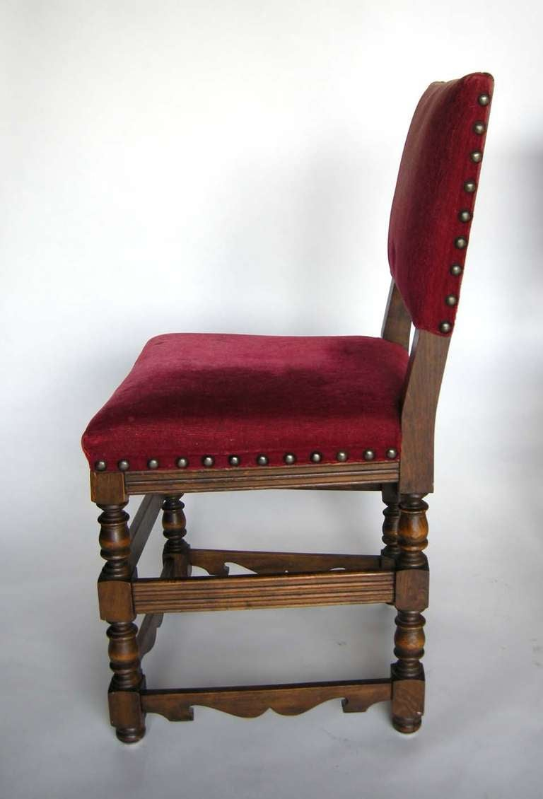 20th Century Four Spanish Chairs For Sale