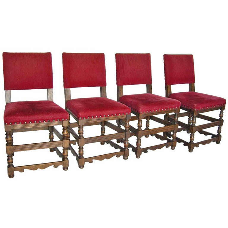 Four Spanish Chairs For Sale