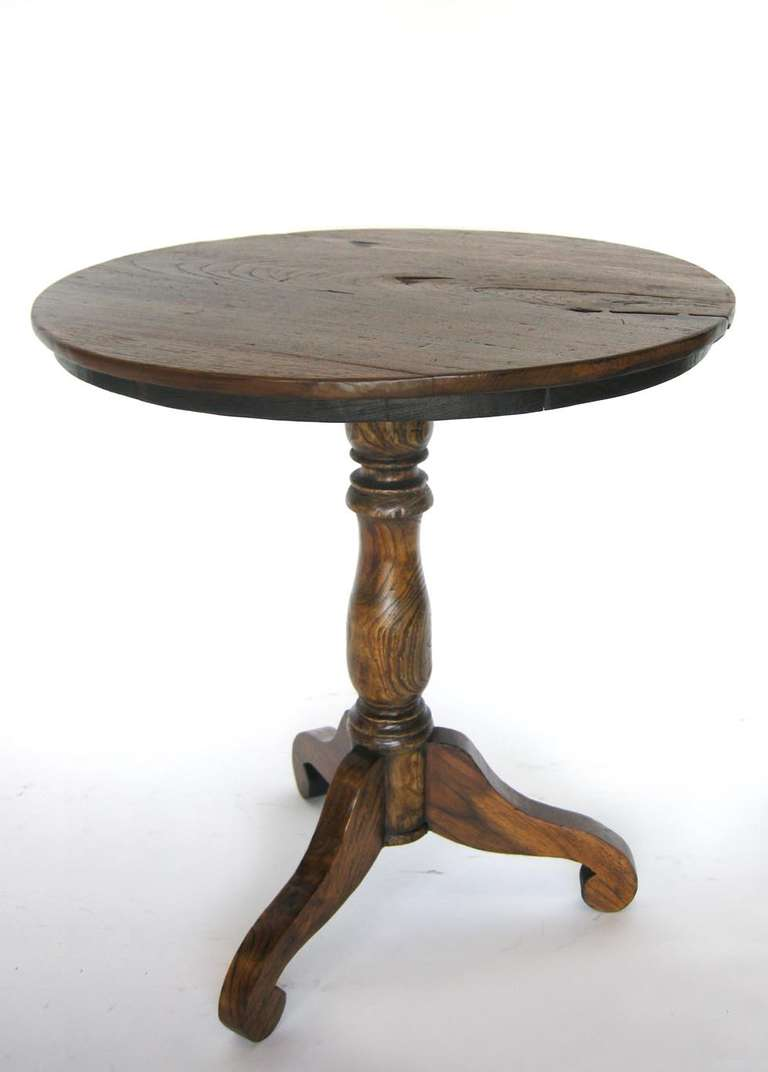 Tall Round Side Table at 1stdibs