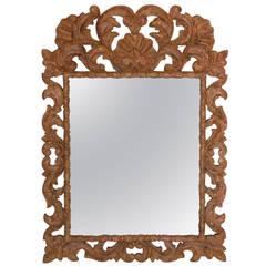 Hand-Carved Mirror Frame