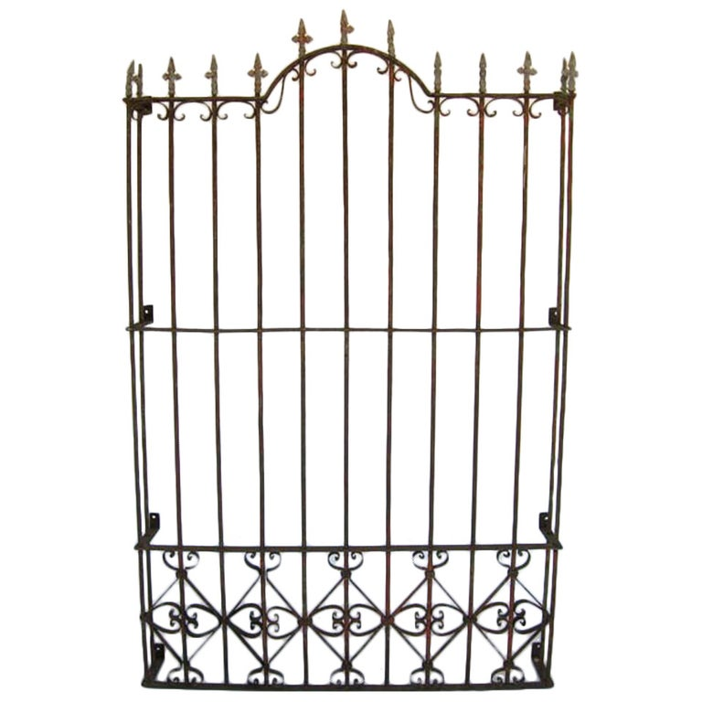 Pair of Antique 19th Century Iron Window Grille/Gate For Sale