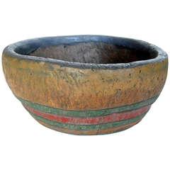 Antique Painted Bowl